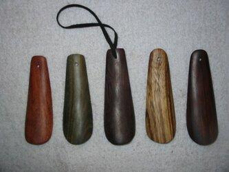 インドローズの木の靴べら 写真中央の画像