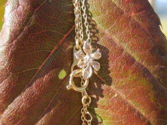 花のK10プチネックレスの画像