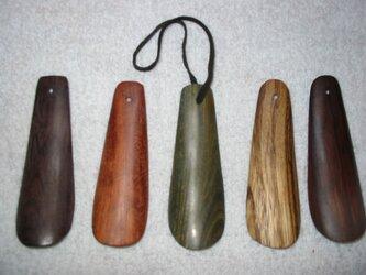 リグナムバイタの樹の靴べら 写真中央の画像