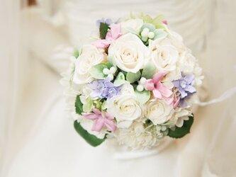 幸せのウエディングブーケ ♥ 魔法のお花でいつまでもキレイ♫の画像