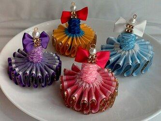 プリンセスストラップ☆リボン☆パステルブルーの画像