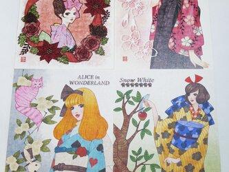 大正ロマン風ポストカード『お好み2枚セット』の画像