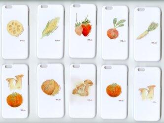 野菜くらぶ。  iphoneカバー iphoneケース 野菜くらぶ。選べる 5個セットの画像