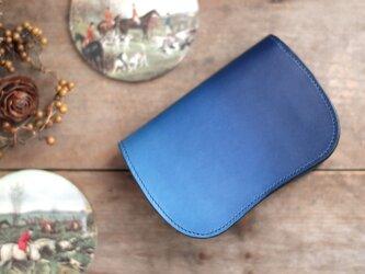 藍染革[migaki] 二つ折り財布 【天藍】の画像