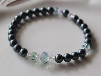 Swarovski の真珠ブレスレット *南洋黒真珠*の画像