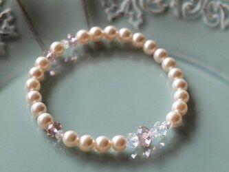 Swarovski の真珠ブレスレット *ホワイト*の画像