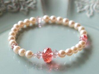 Swarovski の真珠ブレスレット *パパラチア*の画像