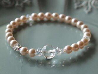 Swarovski の真珠ブレスレット *水晶*の画像