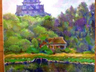 岡山城と後楽園の画像