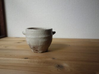 耳付粉引フリーカップの画像