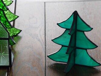ステンドグラス クリスマスツリー bの画像
