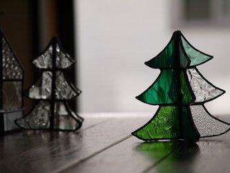 ステンドグラス クリスマスツリー cの画像