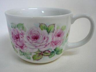 薔薇のスープカップ(手描き)の画像