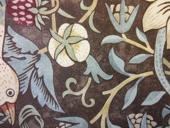 ウィリアム・モリスの生地でつくった座布団カバー[ID茶1八端]の画像