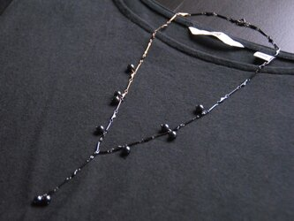 『Monotone』スウィング ネックレス(Haematite )2/2の画像