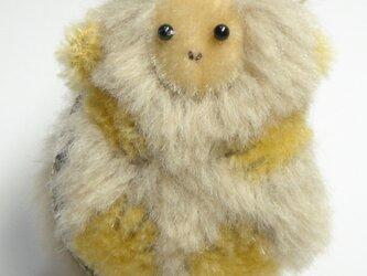SOLD OUT! モコモコのお猿さん♡マカロンポーチの画像
