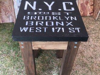 木製スツール(NYC)の画像