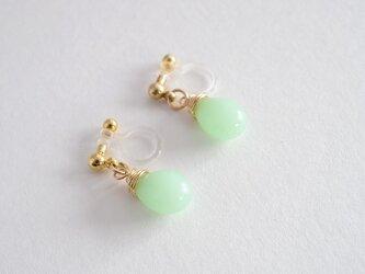 GLASS Larme earring/pierce グリーンヘイズの画像