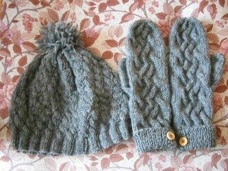 毛糸の帽子&ミトンの画像