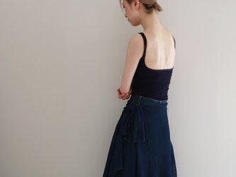 ◆即納◆Rigel[リゲル] 袖付きストール / ネイビー・ブルーの画像