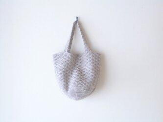 松編みのトートバッグ(麻色)の画像