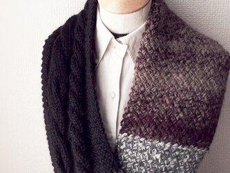 縄編みのスヌード G 2015の画像