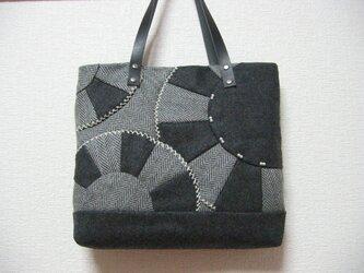 ウールのパッチワークバッグの画像