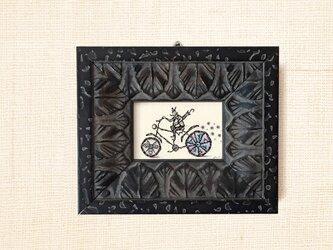 ミニ額縁 原画【 雨上がりの夜に 】mini frame ver.の画像