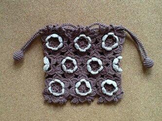 レース編み*オハナ巾着の画像