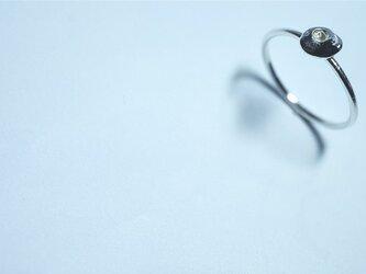 純銀笹吹きのリングの画像