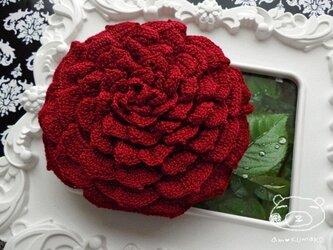 【レッドver.】薔薇のポーチの画像