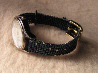 ビーズ織の時計ベルト(12mm)ベルトのみ 北斗七星の画像