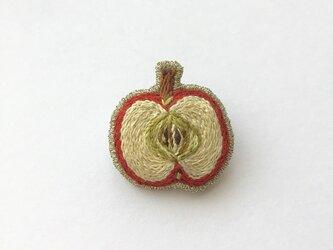 リンゴ - ブローチの画像