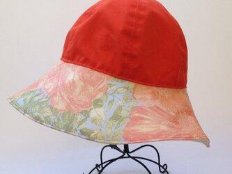 リバティ雨帽子 Rain hatリバーシブルの画像