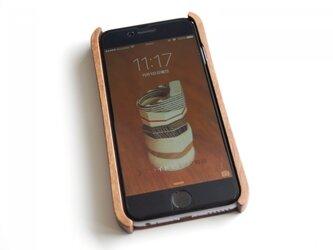 iPhone 6/6s ウッドケース ウォールナット ストラップホール付の画像