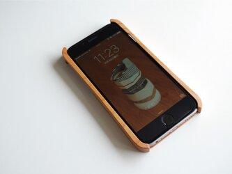 iPhone 6/6s ウッドケース チェリー ストラップホール付の画像
