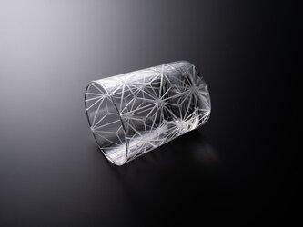 東京切子(花切子)ロックグラス「千代紙」クリアーの画像