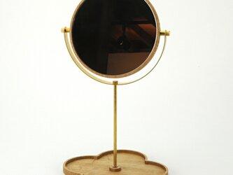 [受注生産]ならの置き鏡の画像