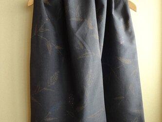着物リメイク・花柄織真綿紬ショールの画像