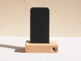 iphone stand -unplugged speaker-(楓)の画像