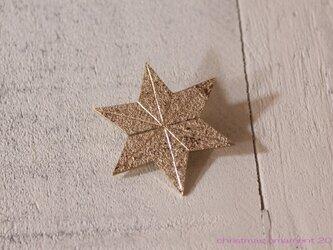 クリスマスオーナメント2015「星」のブローチの画像