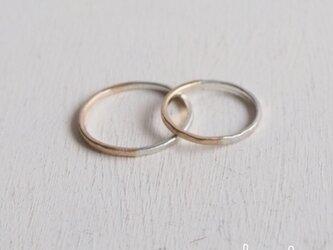 【再販】- K10/SV -  Bi-colored Ringの画像