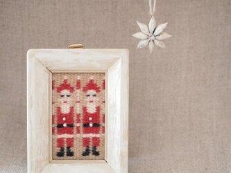 スウェーデン織りのクリスマス・オーナメント(サンタ)の画像