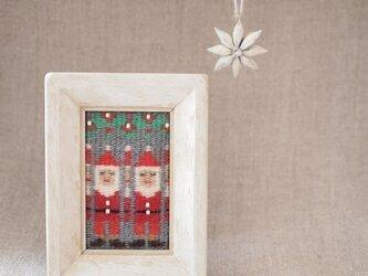 スウェーデン織りのクリスマス・オーナメント(チビ・サンタ)の画像