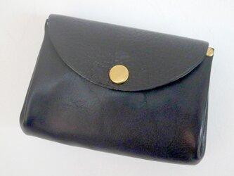 イタリア革のコインケース*ブラックの画像