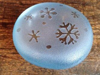 雪のペーパーウェイトの画像