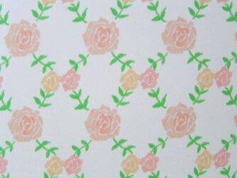赤いバラのポストカードの画像