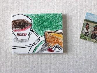 Coffeeとシフォンケーキの画像