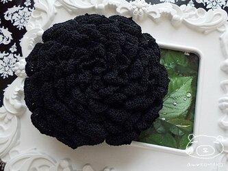 【ブラックver.】薔薇のポーチの画像