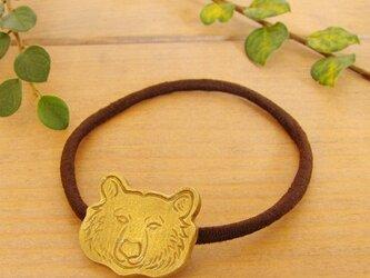 熊ヘアゴムの画像